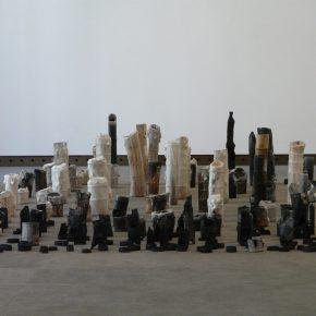 """Liang Shaoji Fallen Altar Candles 2003 Silk bamboo burnt bamboo wax 290x290 - M WOODS presents """"Liang Shaoji: As If"""" in Beijing"""