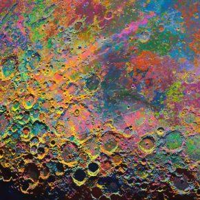 "Wang Yuyang The Moon 201711 2018 Painting 150x150cm 290x290 - Massimo De Carlo presents Wang Yuyang's ""The Moon"" in Hong Kong"