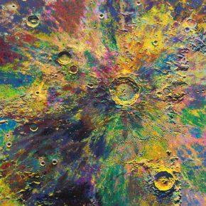 "Wang Yuyang The Moon 201801 Painting 200x200cm 290x290 - Massimo De Carlo presents Wang Yuyang's ""The Moon"" in Hong Kong"