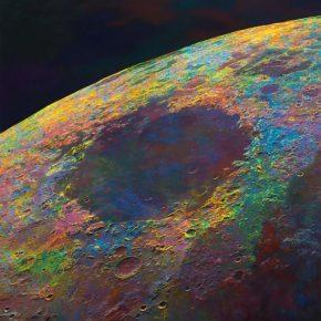 "Wang Yuyang The Moon 201806 2018 Painting 200x200cm 290x290 - Massimo De Carlo presents Wang Yuyang's ""The Moon"" in Hong Kong"