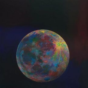"Wang Yuyang The Moon 201808 Painting 200x200cm 290x290 - Massimo De Carlo presents Wang Yuyang's ""The Moon"" in Hong Kong"