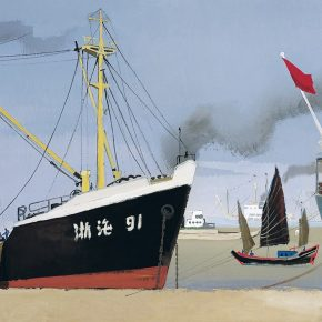 "Yuan Yufu Huangpu River 1973 Gouache on paper 54.5×79cm 1 290x290 - ""Bright Glory: The Aesthetics of Yuan Yunfu"" was unveiled at Tsinghua University Art Museum"