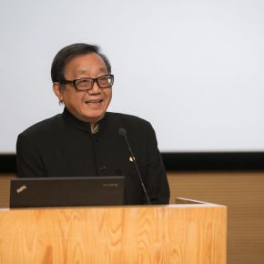 "05 Prof. Zhang Baowei from the School of Architecture CAFA delivered a speech 290x290 - ""Trace of Mind: Zhang Baowei Solo Painting Exhibition"" opened at CAFA Art Museum"