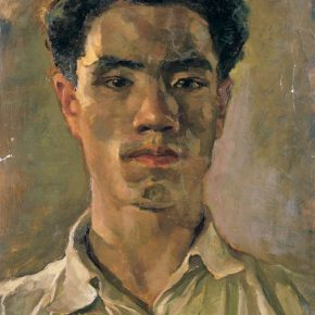 """17 Dai Ze Self Portrait oil on paper 26 x 34 cm 1949 290x290 - Do the Best to Cultivate and Persist in the Artistic State: """"Cultivator—Exhibition of Dai Ze's Oil Paintings"""" Opened"""