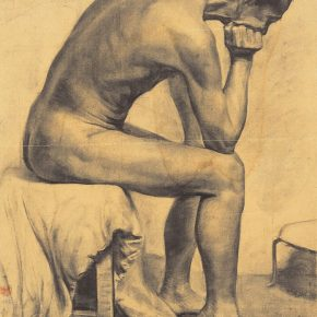 """18 Dai Ze Male Nude 76 x 54 cm 1945 290x290 - Do the Best to Cultivate and Persist in the Artistic State: """"Cultivator—Exhibition of Dai Ze's Oil Paintings"""" Opened"""