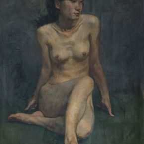 """19 Dai Ze Female Nude oil on canvas 100 x 65 cm 1977 290x290 - Do the Best to Cultivate and Persist in the Artistic State: """"Cultivator—Exhibition of Dai Ze's Oil Paintings"""" Opened"""