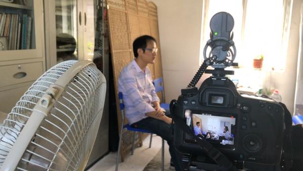 Screenshot of the video on Wang Wenya