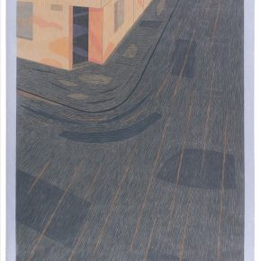 "21 dimitrije.pecic Serbia The Street 2,woodcut,122cm×85cm,2015 290x290 - The ""United Nations""of Printmaking ""redefined"" prints: The Second IAPA Invitational Exhibition and Academic Seminar"