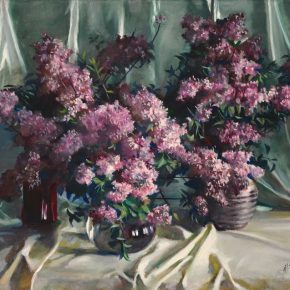 """30 Dai Ze Flowers oil on canvas 116 x 94 cm 2001 290x290 - Do the Best to Cultivate and Persist in the Artistic State: """"Cultivator—Exhibition of Dai Ze's Oil Paintings"""" Opened"""