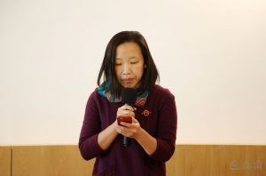 Director of Inside-Out Art Museum Carol Yinghua Lu delivered a speech at the opening ceremony