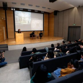 06 View of the lecture 290x290 - Shirazeh Houshiary in Dialogue with Yu Hong: The Enlightenment of Contemporary Art in Dunhuang