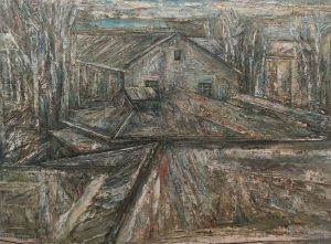 Zhao Dajun, The Old Art School, oil on canvas, 160 x 200 cm, 1997