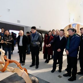 14 Honored guests visited the exhibition 290x290 - The Start of a Long Journey: Outstanding Works by the Graduates of 2018 from Key Art Academies in China, is on display at CAFAM