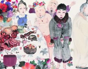 27 Li Jin A Feast No.1 ink and color on paper 52 x 230 cm 2012 1 290x228 - Li Jin