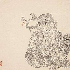 42 Li Jin Lhasa Line Drawing line drawing on paper 43 x 38 cm 1993 1 290x290 - Li Jin