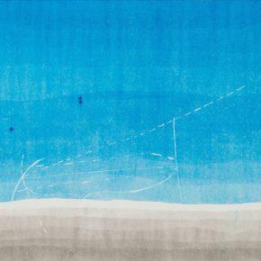 Wang Gongyi, Einstein #1, 2017; Watercolor, ink and Clamshell powder on Chan-Yi Xuan paper, 70x137cm