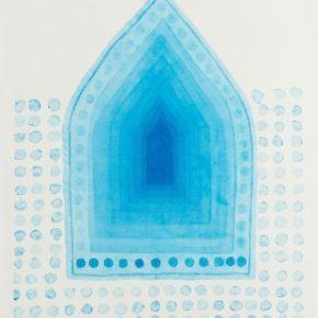Wang Gongyi, Mantra, 2012; Watercolor on Chan-Yi Xuan paper, 132x65cm