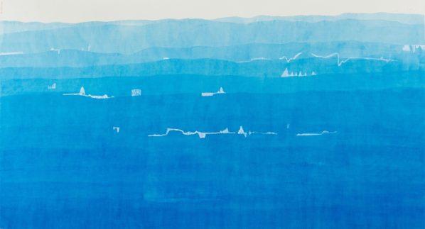 Wang Gongyi, Melisma, 2018; Water color on Chan-Yi Xuan Paper, 94x171cm