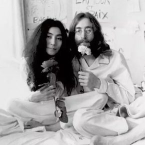 "Yoko Ono and John Lennon Montreal Bed In 1969 Queen Elizabeth Hotel Montreal Canada. Photo by Ivor Sharp. ©Yoko Ono courtesy of Studio One 290x290 - Today Art Museum presents ""LOVE: Intimate"" focusing on video art"