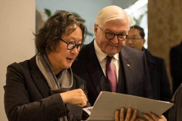German President Frank-Walter Steinmeier visited Professor Xu Bing's Studio
