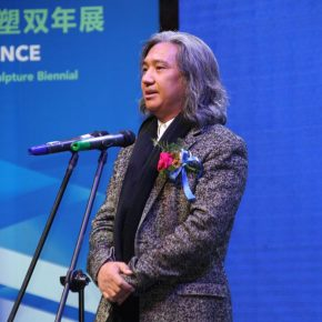 Member of the Standing Committee of the Chinese People's Political Consultative Conference, Vice Chairman of the China Artists Association, and Director of the National Art Museum of China Wu Weishan delivered a speech