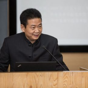 Director of the CAFA Art Museum Zhang Zikang hosted the opening ceremony