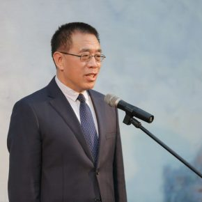 Party Secretary and Director of National Center for the Performing Arts Wang Ning announced the opening of the exhibition