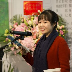 The opening ceremony was hosted by Ms. Fu Yijing, Director of the Research Department of the Central Academy of Fine Arts.