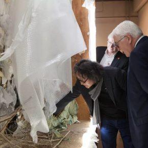 German President Frank-Walter Steinmeier visited Professor Xu Bing's Studio