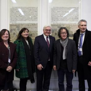 German President Frank-Walter Steinmeier visited Xu Bing's Studio