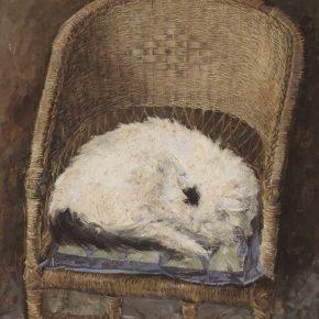 Li Ruinian, Snoring, oil painting, 55 x 43.5 cm, 1980