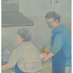 """Chen Ke Mom Dad Cooking 2018 Oil on canvas 46x38cm 290x290 - Yuz Museum presents Chen Ke's solo exhibition """"The Real Deal is Talking with Dad"""" in Shanghai"""