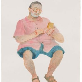 """Chen Ke Sketch of My Father No. 4 2018 Watercolor on paper 49x39cm 290x290 - Yuz Museum presents Chen Ke's solo exhibition """"The Real Deal is Talking with Dad"""" in Shanghai"""