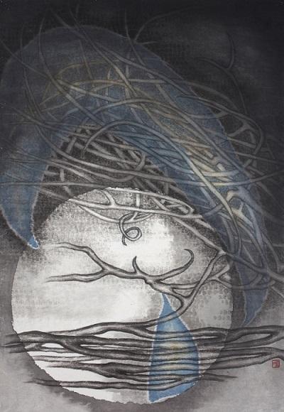 """Chou Lu Yun Irene """"Tree 8"""" - Galerie du Monde presents """"One Art Group – Pioneers of Ink Art"""" in Hong Kong"""