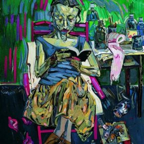 Shen Ling, A Girl Reading in the Bible, 1993; Oil on canvas, 160x130cm