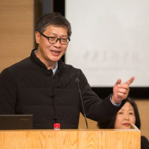 Chen Jichun, Director of Museu de Arte de Macau and a scholar who has been engaged in the study on Zheng Jin, delivered a speech at the opening ceremony