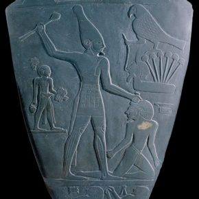 The slate celebrating King Nemer who unified the Upper and Lower Egypt