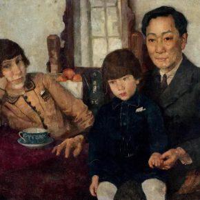 Xu Beihong, Family Photo of Yang Zhongzi, 1928; Oil on canvas, 59.5×79.5cm