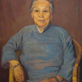 Lu Sibai, Portrait of Mother, 1948; Oil on canvas, 81×65cm