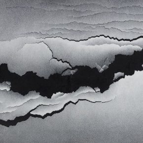Qiu Deshu, Fission – Taihe, rice paper, acrylic, canvas, 122×244cm, 2008