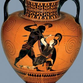 Exekias, Achilles and Penthesilea, 540 BCE