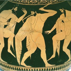 Euthymides, Three Drunkards Dancing, 500 BCE