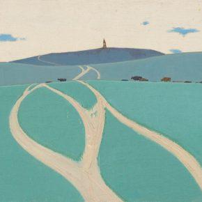 Tuomusi, Grassland, 61×100.5cm, oil on canvas, 1981