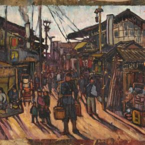 Wang Ziyun, Morning of Town, 1928; Oil on canvas, 59.5×72cm