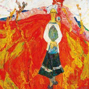 Luo Erchun, September, oil on canvas, 163×154cm, 1996