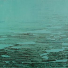 Liu Guosong, Xing Xiu Hai No.3 – Heavenly Yellow River Series, ink and color on paper, 86x213cm, 2010