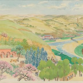 Gu Yuan, The Ode to Yellow River (a draft of the mural at the Yan'an Hall, the Great Hall of the People), watercolor on paper, 77×103cm, 1970