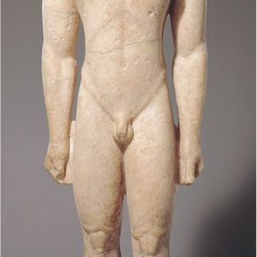 The marble statue that is as large as a real man, 600 BCE