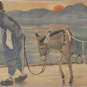Zheng Jin, At Dusk It Is Still a Long Way to Go, ink and color on silk, 117.5×202.5cm, in the collection of National Palace Museum in Taipei