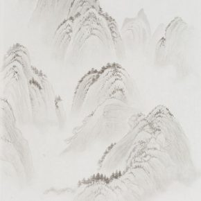 Wu Yi, Copy of the Ancient Landscape, 69×47cm, ink on paper, 2018